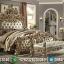 Jual 1 Set Tempat Tidur Mewah Jepara Ukiran Gold Duco MMJ-0173