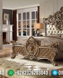 Jual Tempat Tidur Mewah Ukir Jepara Gold Duco MMJ-0172