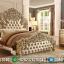 Jual Tempat Tidur Mewah Ukiran Jepara Klasik Gold MMJ-0133