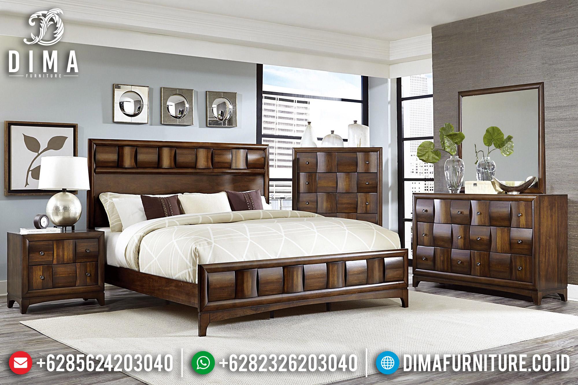 Model Tempat Tidur Jati Jepara Minimalis 2019 MMJ-0175