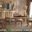 Model Yaren Meja Makan Jepara Duco Mewah Ivory MMJ-0156