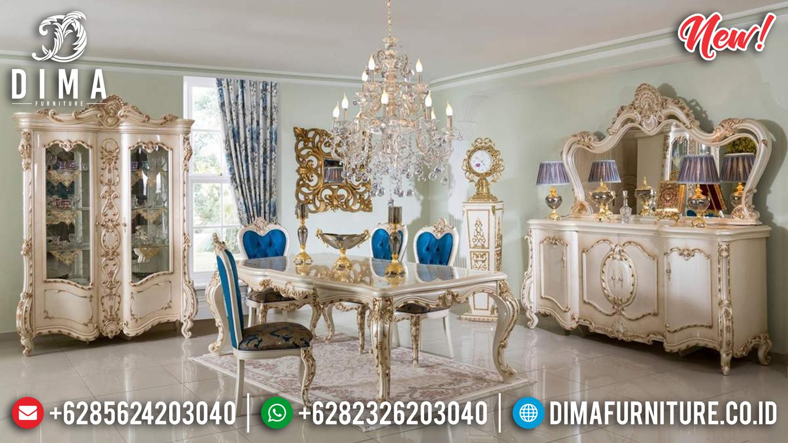 Jual Meja Makan Jepara Ankara Duco Pearl Gold MMJ-0192