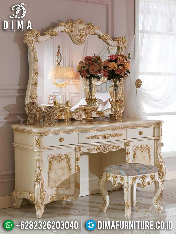 Jual Meja Rias Jepara Duco Gold Ivory MMJ-0194