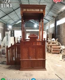 Jual Mimbar Masjid Jati Jepara TPK Perhutani MMJ-0204