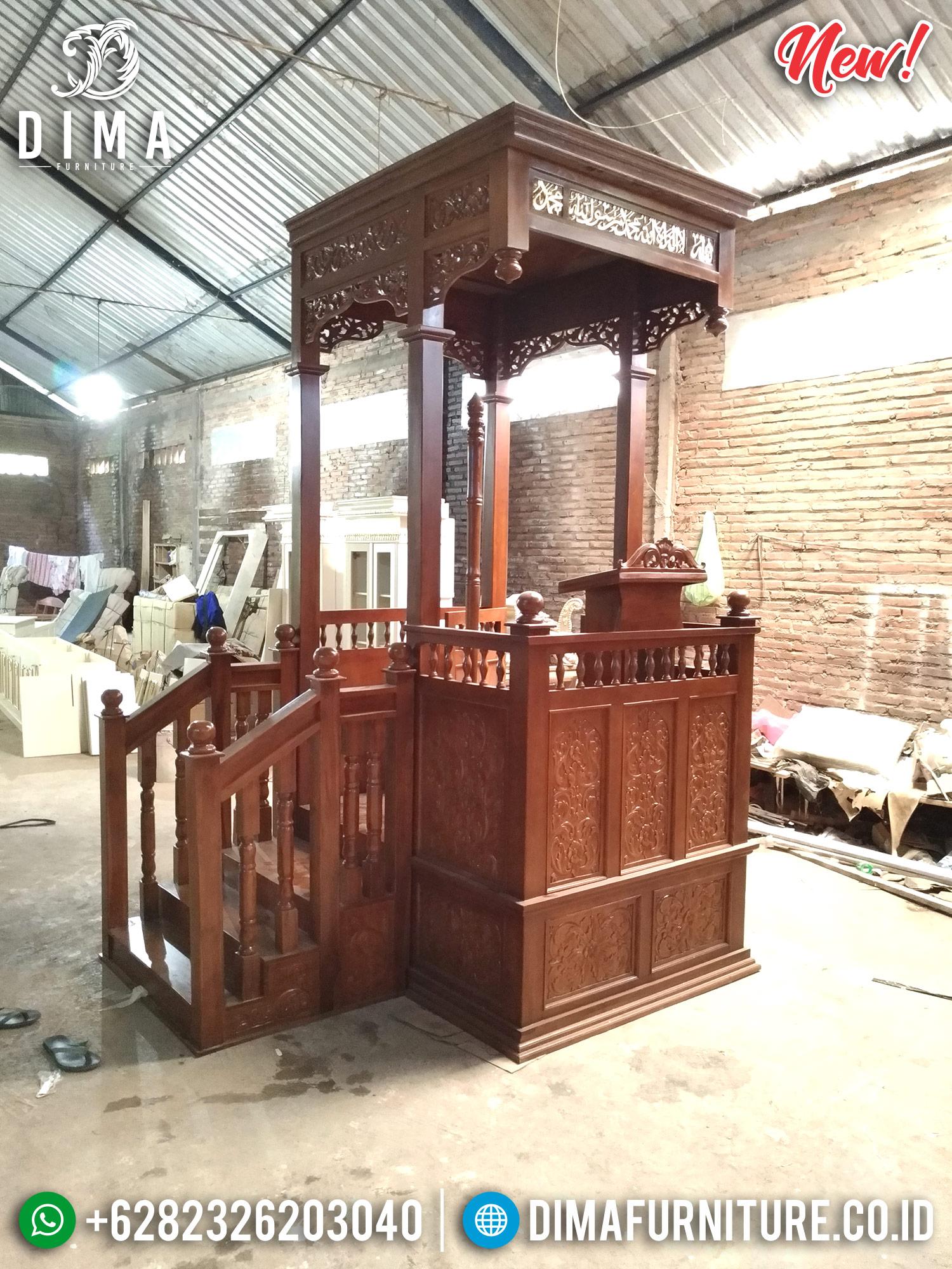 Jual Mimbar Masjid Jati Jepara TPK Perhutani MMJ-0204 Gambar 1