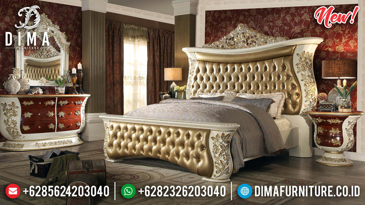 Golden Ivory Tempat Tidur Jepara New Set Mewah MMJ-0261