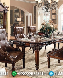 Jual Set Meja Makan Klasik Luxury Terbaru MMJ-0249