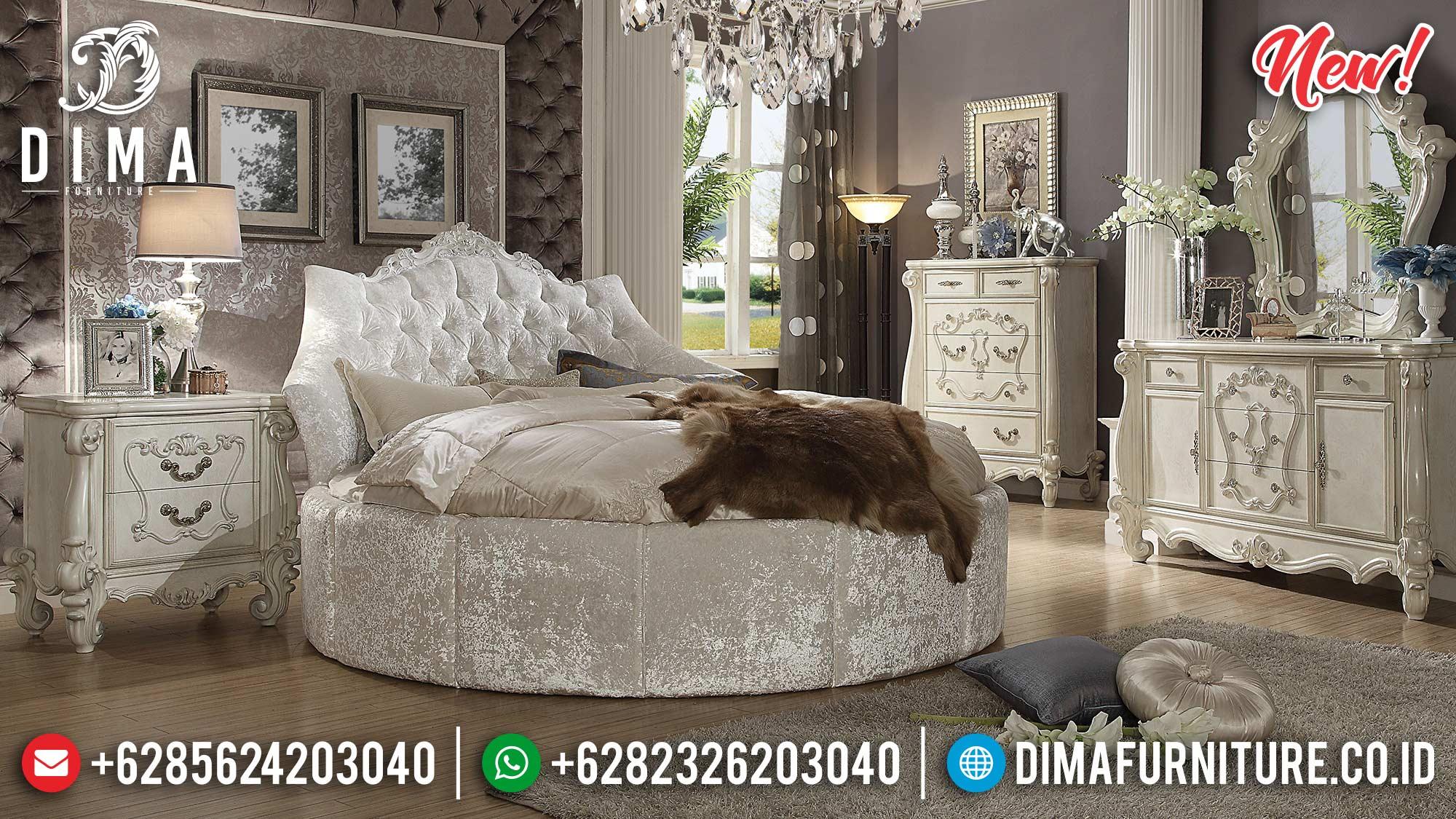 Tempat Tidur Jepara Model Bulat Classic Mewah MMJ-0233