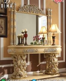 Harga Meja Konsol Jepara Mewah Golden Duco Ukiran Baroque MMJ-0344