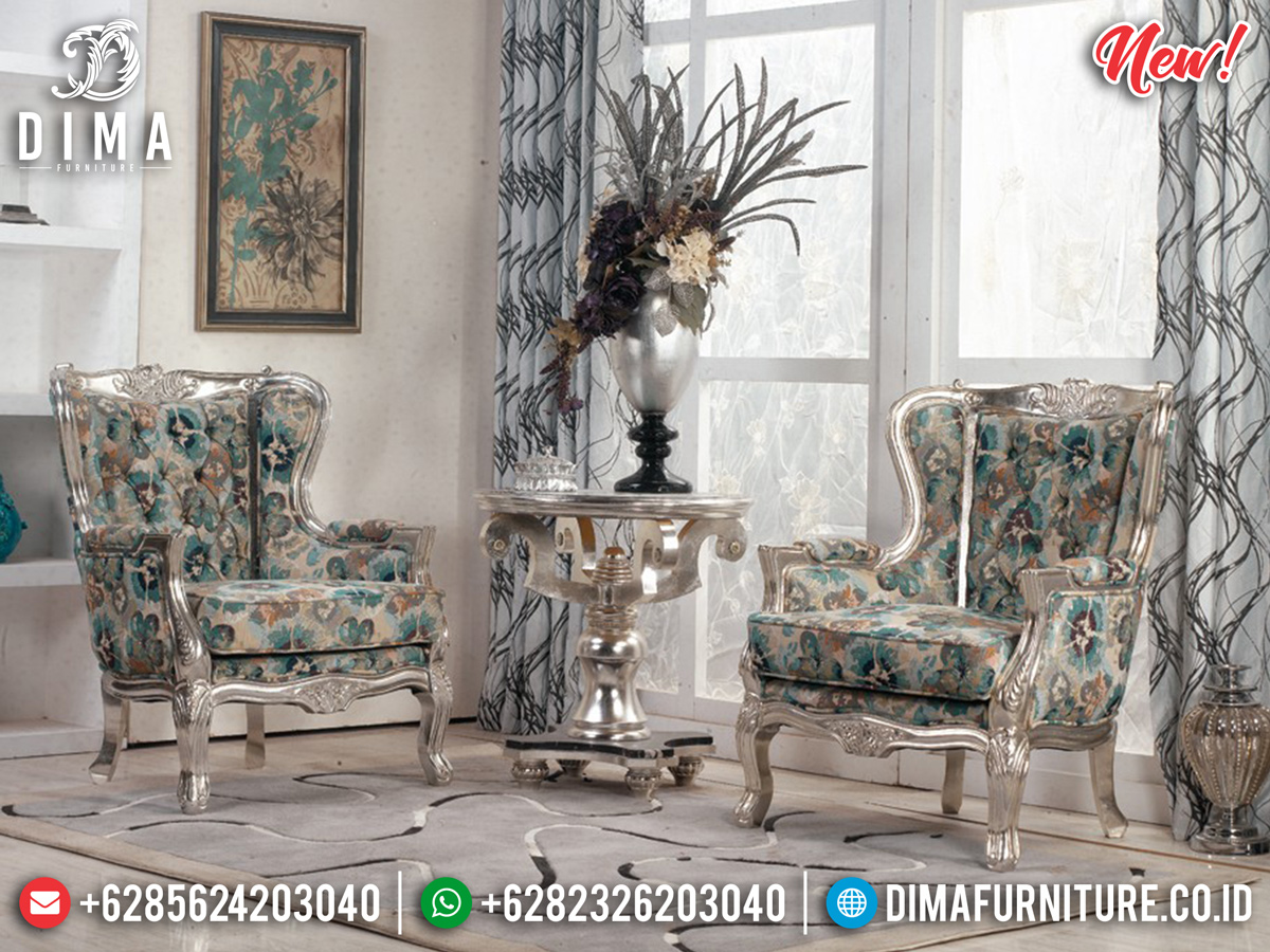 Model Kursi Teras Mewah Wings Chair Silver Diamond MMJ-0312