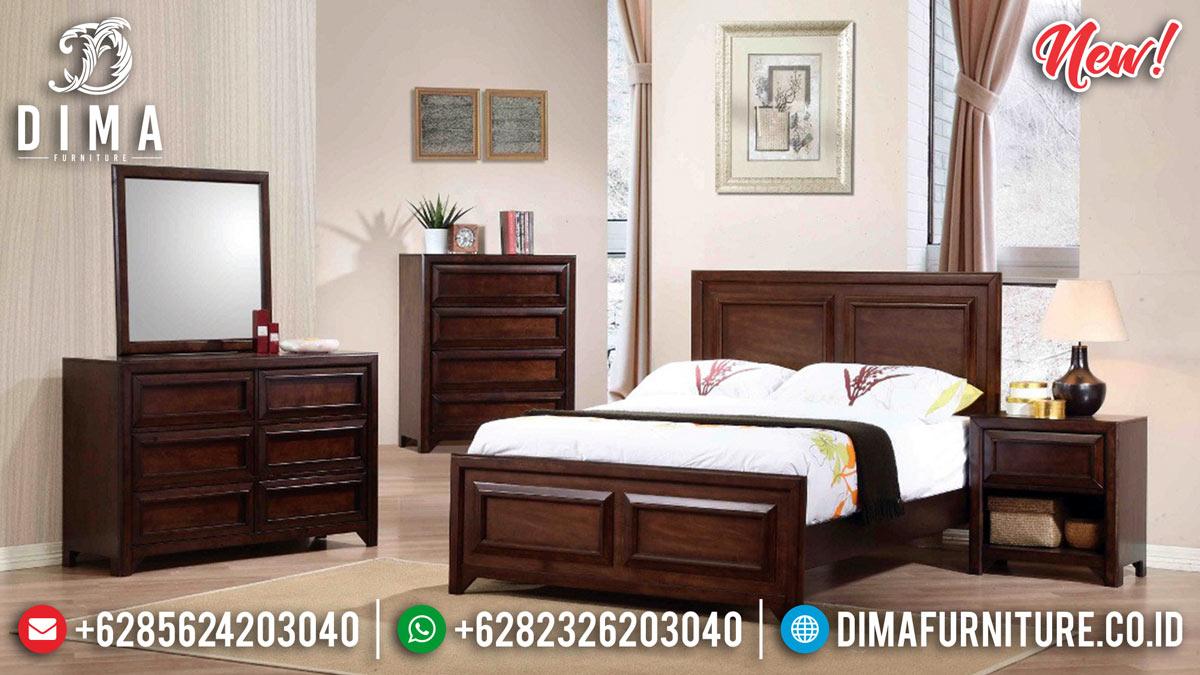 Model Minimalis Tempat Tidur Jati Natural Jepara MMJ-0277