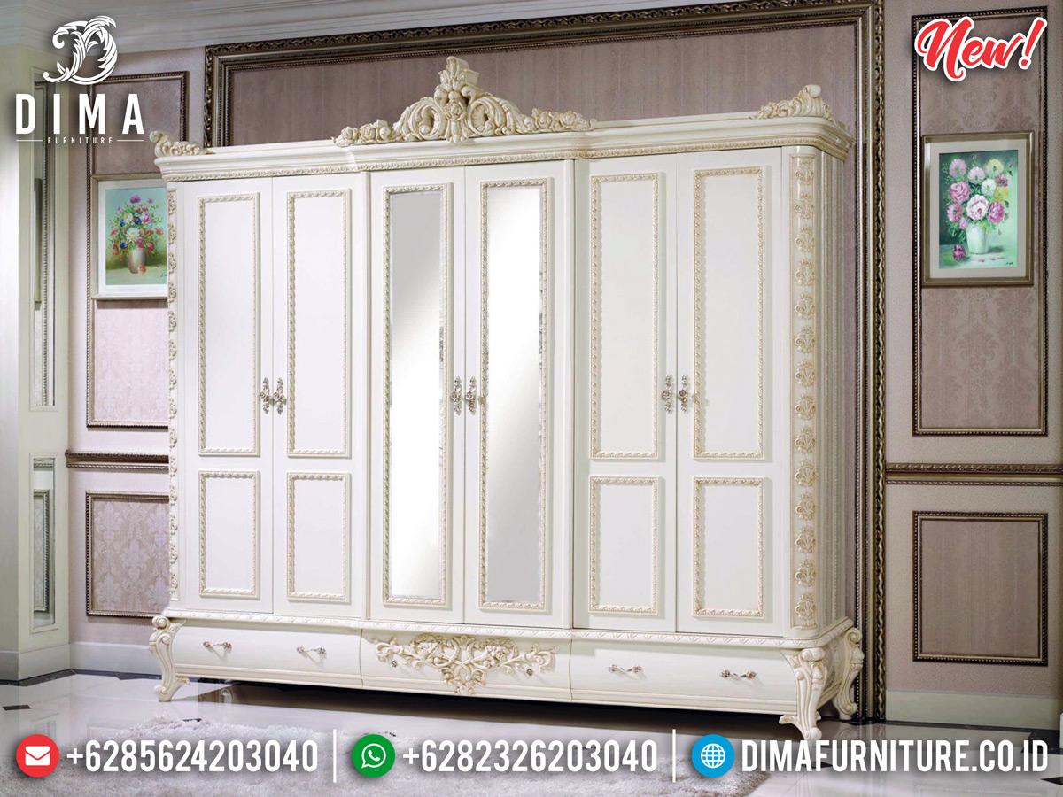New Lemari Pakaian Duco Pintu 6 Mebel Jepara Terbaru MMJ-0320