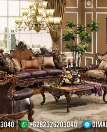 Furniture Jepara Set Sofa Tamu Jati Rose Wood Natural Color MMJ-0394