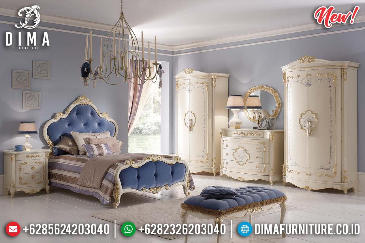 Tempat Tidur Mewah Jepara Mesmerizing Putih Duco Golden Kombinasi MMJ-0361