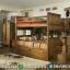 Desain Set Kamar Anak Dipan Tingkat Terbaru Furniture Jepara Modern MMJ-0432
