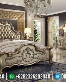 Furniture Jepara Terbaru Tempat Tidur Mewah Ukiran Klasik Jepara MMJ-0437