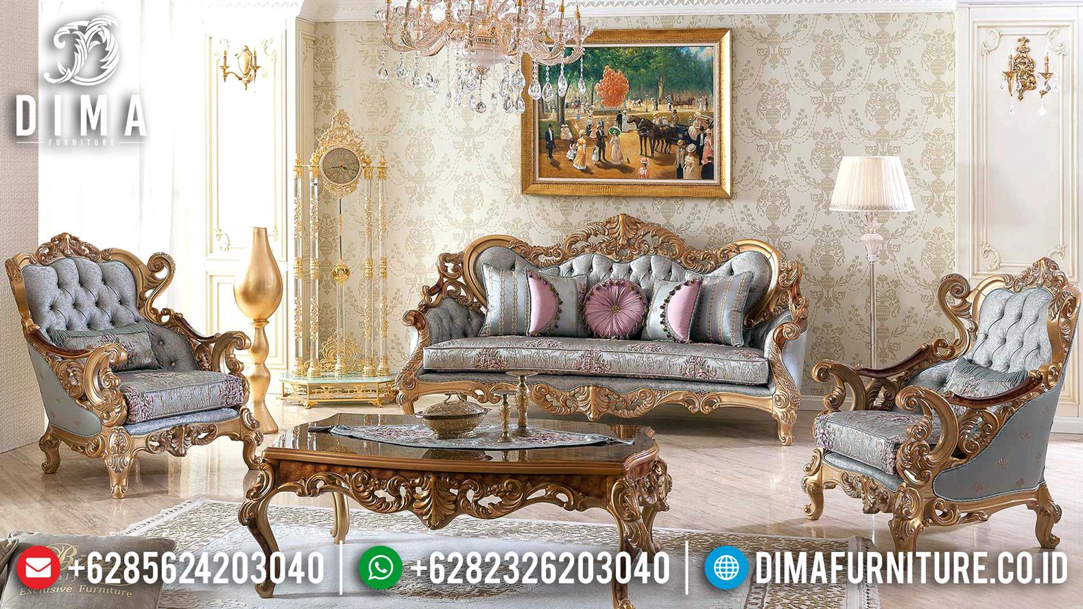 Harga Sofa Tamu Ukiran Mewah Tipe Luxury Classic Mebel Jepara MMJ-0473