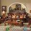 Jual Sofa Tamu Romawi Royal Classic Natural Jati Furniture Jepara MMJ-0444