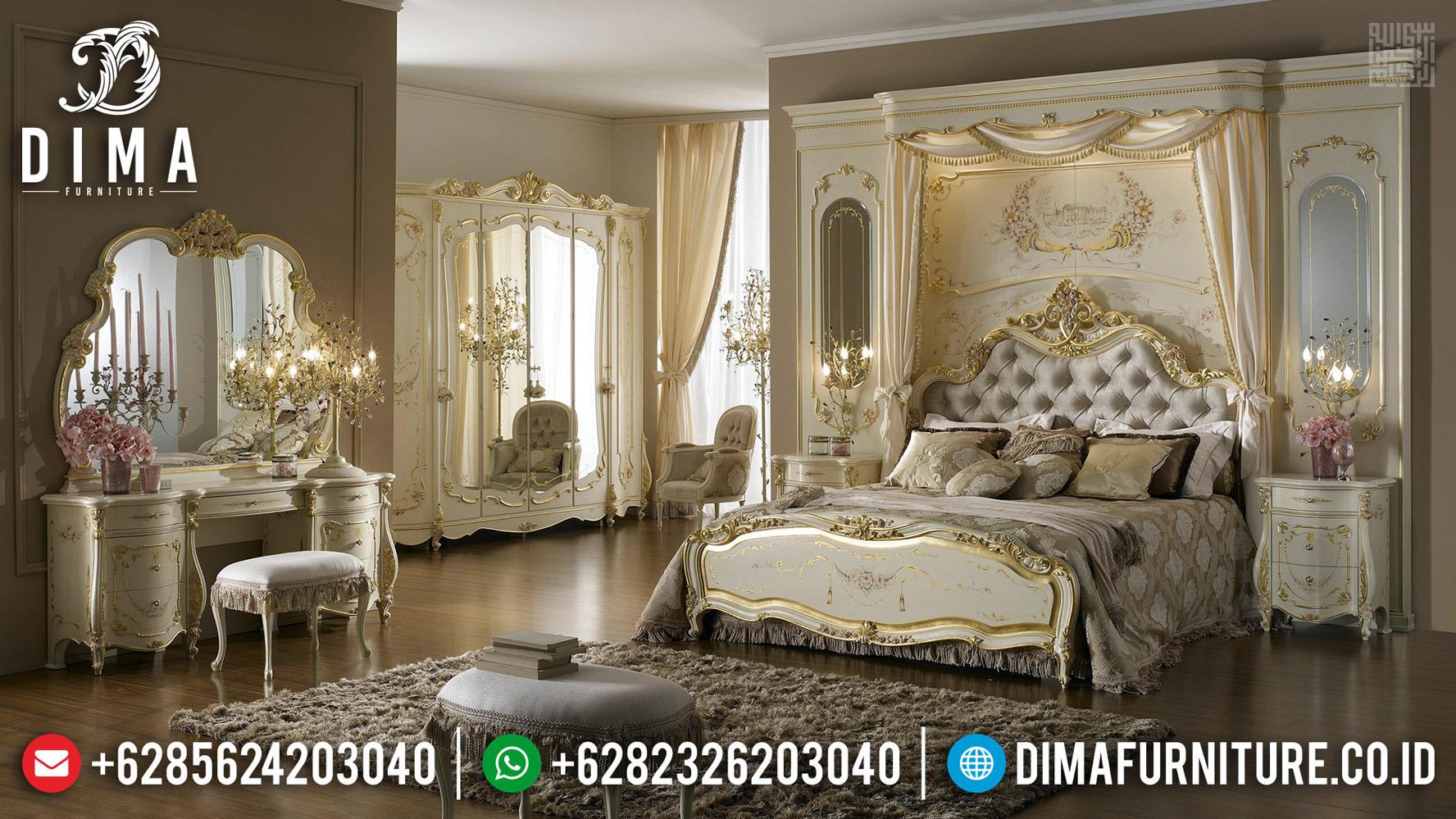 Jual Tempat Tidur Mewah Mediterania Furniture Jepara Luxury MMJ-0423