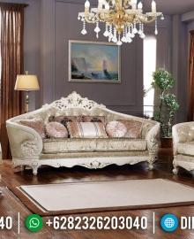 Kursi Sofa Tamu Mewah Luxury Carving White Duco Ivory MMJ-0477