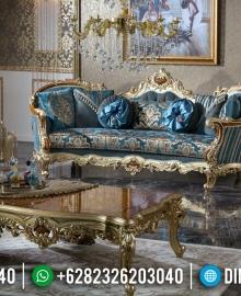 Living Room Design Sofa Tamu Mewah Jepara Elegant Golden Carving MMJ-0472