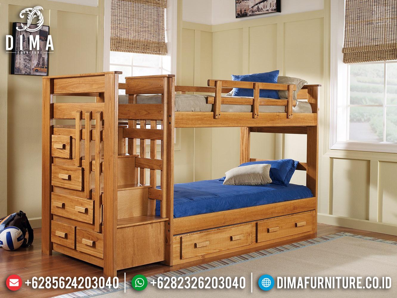 New Dipan Tingkat Anak Jati Natural Terbaru Furniture Jepara MMJ-0427