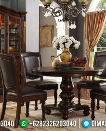 New Set Meja Makan Jati Jepara Natural Classic Dark Brown MMJ-0408