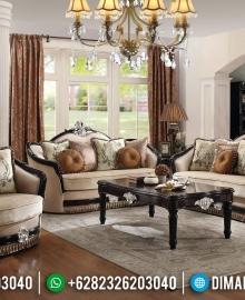 New Sofa Tamu Mewah Natural Jati Classic Salak Brown MMJ-0454