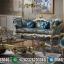 Sofa Tamu Mewah Amanda Golden Classic Combine Color Furniture Jepara MMJ-0441