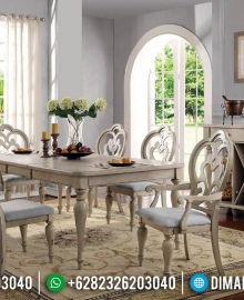 Furniture Minimalis Meja Makan Jati Retro Classic French Style MMJ-0549