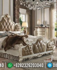 Harga Tempat Tidur Mewah Classic Ukiran Luxury Barocco MMJ-0557