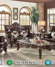 Interior Ideas Set Sofa Tamu Ukiran Jati Jepara Klasik Natural MMJ-0579