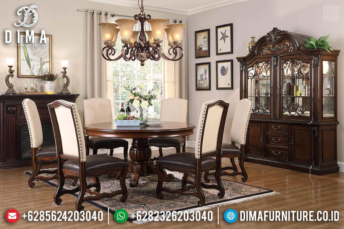 Jual Meja Makan Jati Minimalis Classic Design Jepara MMJ-0545