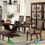 Meja Makan Kayu Jati Natural Classic Furniture Jepara Terbaru MMJ-0515