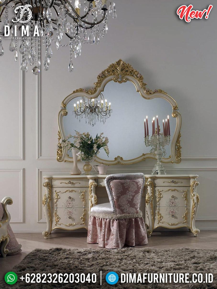 Meja Rias Mewah Alexandra Ukiran Classic Luxury Furniture Jepara MMJ-0590