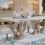 New Design Meja Makan Ukiran Mewah Golden White Based MMJ-0502