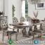 Set Kursi Meja Makan Mewah Champagne Color Luxury Model MMJ-0516