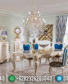 Set Meja Makan Mewah Jepara, Kursi Makan Ukiran Classic, Dining Sets Table Luxury MMJ-0537