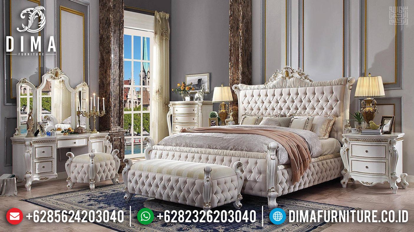 Set Tempat Tidur Mewah Ukiran Jepara Luxury Classic MMJ-0487