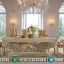Desain Meja Makan Ukir Charlotte Elegant Luxury Carving Jepara MMJ-0634