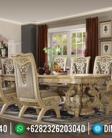 Gambar Meja Makan Ukiran Klasik Luxurious Design Interior Mewah MMJ-0635