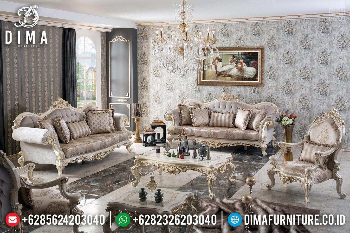 Interior Luxury Design Sofa Tamu Mewah Jepara New Realease MMJ-0592