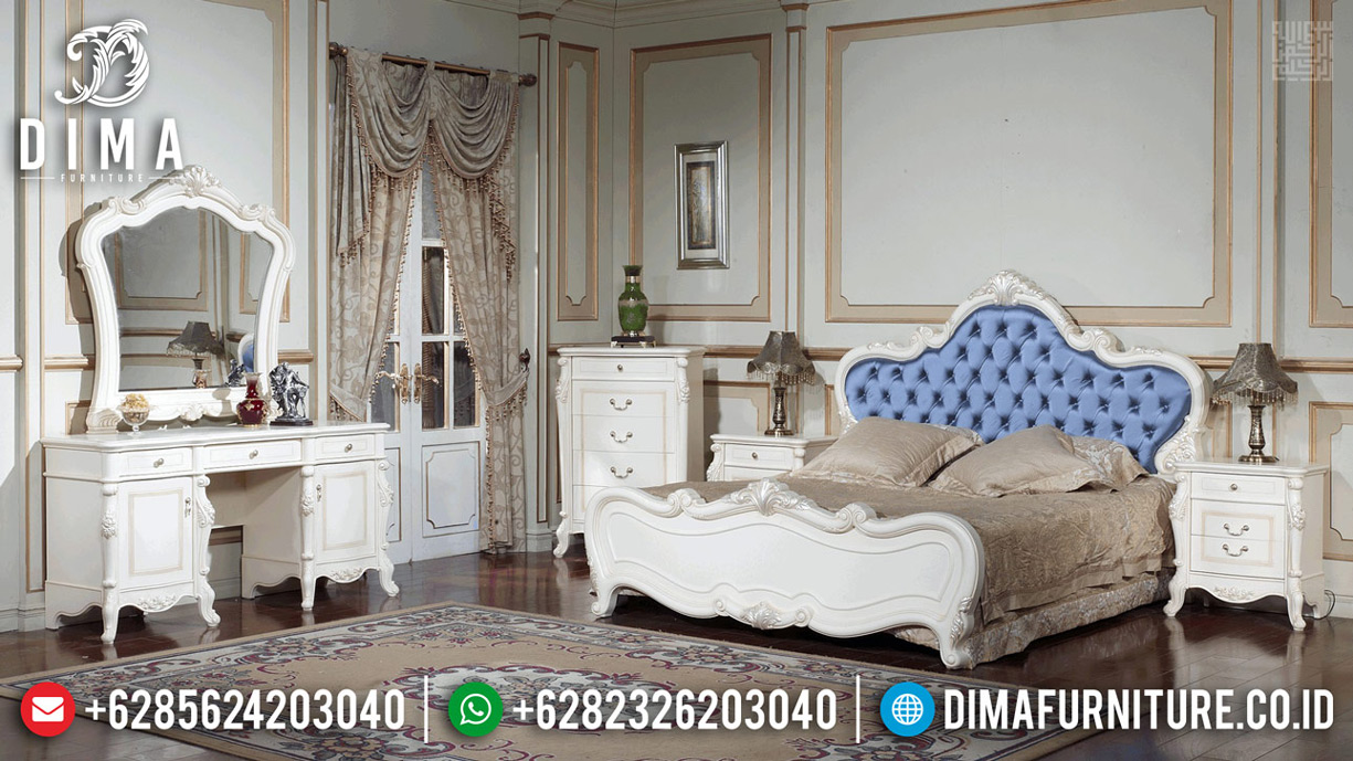 Kamar Set Mewah Luxury Carving Dipan Ranjang Queen Size Room Vanity MMJ-0617