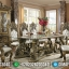 Konsep Meja Makan Mewah Luxury Klasik Ukiran Italian Baroque MMJ-0652