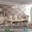 Meja Makan Mewah Versailles Ukiran Luxury Turkish Type Superior MMJ-0653