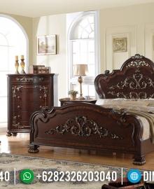 Model Tempat Tidur Mewah Klasik Jati Luxurious Jepara MMJ-0610