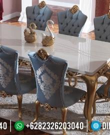 New Meja Makan Mewah Golden Carving Duco Combination Luxury Classic Jepara MMJ-0638