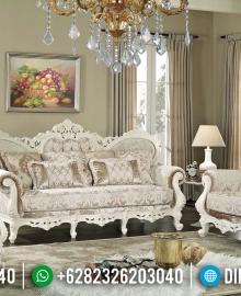 Sofa Tamu Mewah Ganesha Putih Duco Luxury Carving Antique MMJ-0642