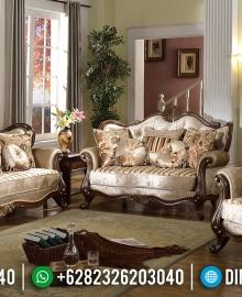 Sofa Tamu Mewah Jati Natural Luxury Classic Marhaban Ya Ramadhan MMJ-0645