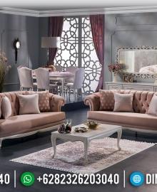 Sofa Tamu Mewah Jepara Putih Duco Koltuk Turkish Design MMJ-0595